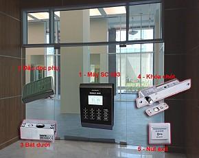 Bộ kiểm soát cửa và chấm công 3